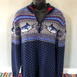 Vineyard Vines Marlin Whale Intarsia Sweater